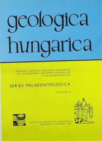 Gergelyffy Lászlóné  (Szerk.) - Geologica Hungarica - Series Palaeontologica