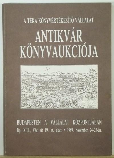 - Őszi könyvárverés 1989.