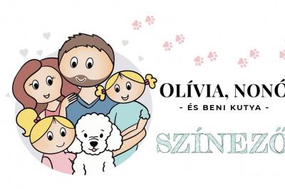Dr. László Tímea - Olívia, Nonó és Beni kutya színező