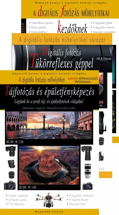 - Tájfotózás és épületfényképezés + Digitális fotózás tükörreflexes géppel 2014 + A digitális fotózás műhelytitkai kezdőknek 2014