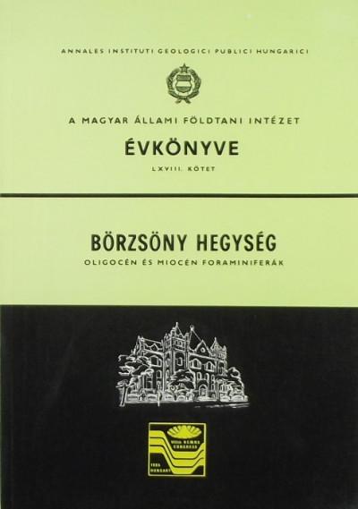 - A Magyar Állami Földtani Intézet évkönyve LXVIII. kötet