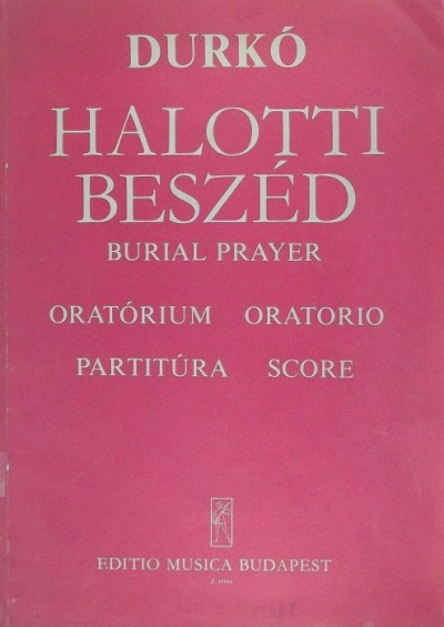 - Halotti beszéd / Burial prayer