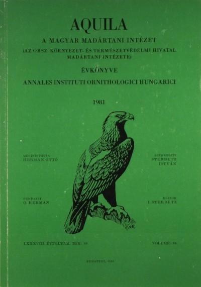 Dr. Sterbetz István  (Szerk.) - Aquila 1981