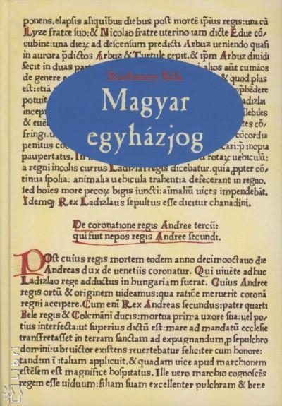 Szathmáry Béla - Magyar egyházjog