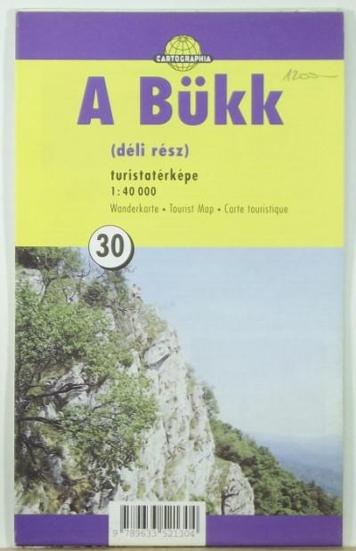 - A Bükk (déli tész) turistatérképe