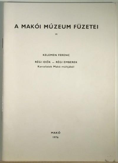 Kelemen Ferenc - Régi idők - Régi emberek