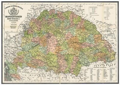 - Magyarország antik térképe 1876