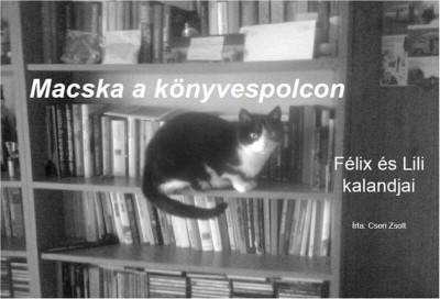 Cseri Zsolt - Macska a könyvespolcon