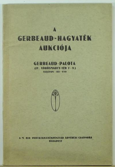 - A Gerbaud-hagyaték aukciója