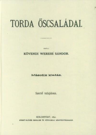 Kövendi Weress Sándor - Torda őscsaládai