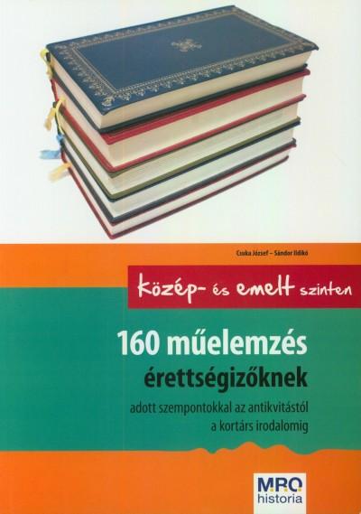 Csuka József - Sándor Ildikó - 160 műelemzés érettségizőknek