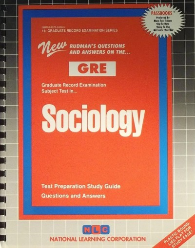 - GRADUATE RECORD EXAMINATION SUBJECT TEST IN SOCIOLOGY