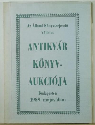 - Tavaszi könyvaukció 1989.