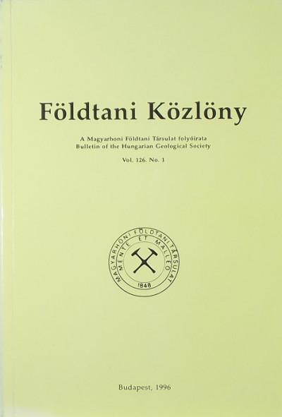 - Földtani Közlöny Vol. 126. No, 1,