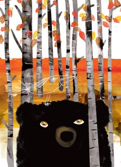 - Karácsonyi képeslapok - medve