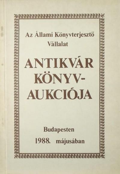 - Az ÁKV XXVII. antikvár könyvárverés katalógusa