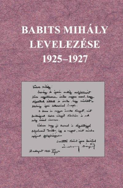 - Babits Mihály levelezése 1925-1927