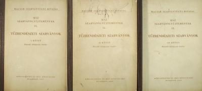 Farkas Győző  (Szerk.) - Tarján Rezső  (Szerk.) - Tűzrendészeti szabványok I-III.
