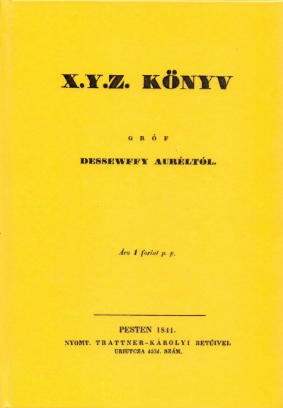Dessewffy Aurél - X.Y.Z. könyv