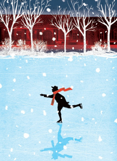 - Karácsonyi képeslapok - korcsolya