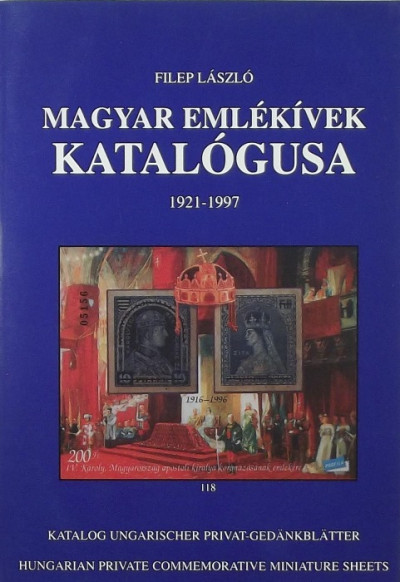 László Filep - Magyar Emlékívek katalógusa 1921-1997