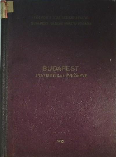 - Budapest statisztikai évkönyve 1962