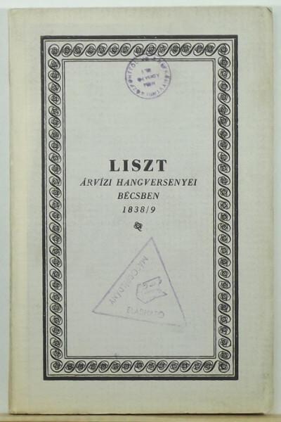 - Liszt Ferenc árvízi hangversenyei Bécsben