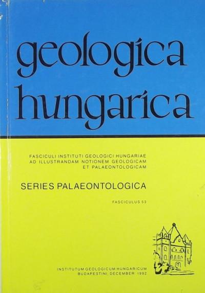 Deák Margit  (Szerk.) - Dr. Hably Lilla  (Szerk.) - Geologica Hungarica - Series Palaeontologica