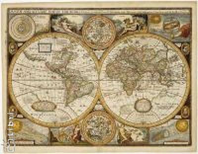 - Antik világtérkép műanyaghengerben (91x76cm)