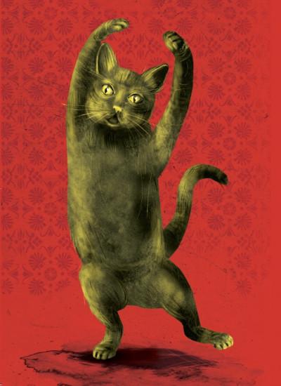 - Karácsonyi képeslapok - macska