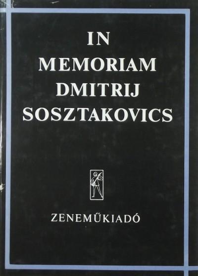 Breuer János - In memoriam Dmitrij Sosztakovics