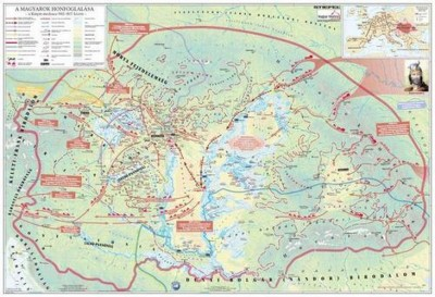 - A magyar nép vándorlása és a honfoglalás - Falitérkép