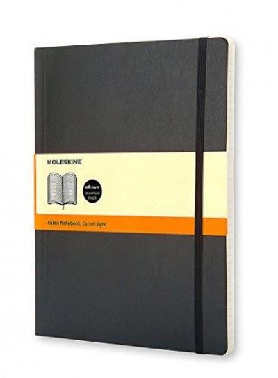 "- Moleskine notesz QP621 puha fekete ""XL"" vonalas"