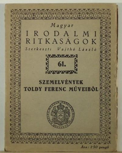 Toldy Ferenc - Szemelvények Toldy Ferenc műveiből