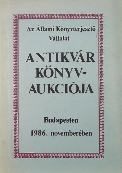 - Az ÁKV antikvár könyvárverés katalógusa XXIV.