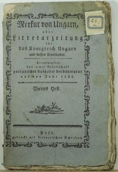 - Merkur von Ungarn - 1786 - Viertes Heft