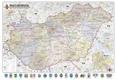 - Magyarország régiói, megyéi és települései falitérkép