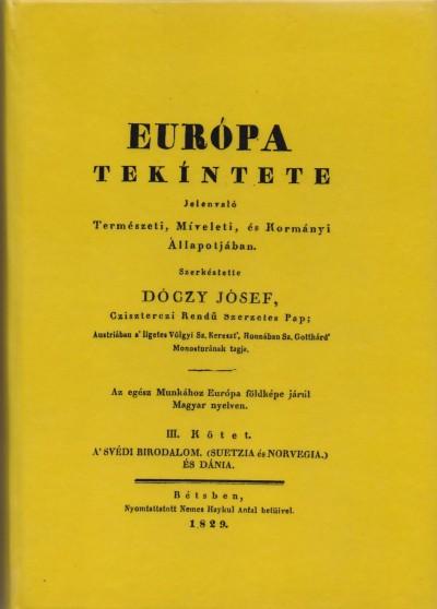 Dóczy József - Európa tekíntete jelenvaló természeti, míveleti, és kormányi állapotjában