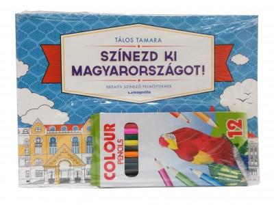 Tálos Tamara - Színezd ki Magyarországot! + Színes ceruza