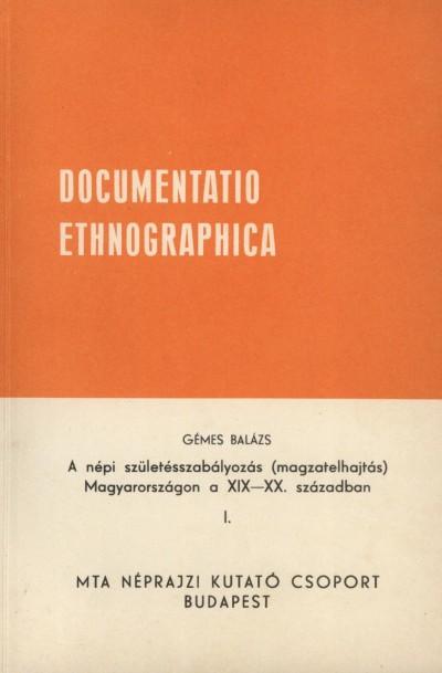 Gémes Balázs - Documentatio Ethnographica