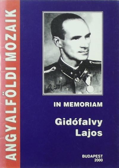 Sárközi Sándor - In memoriam Gidófalvy Lajos