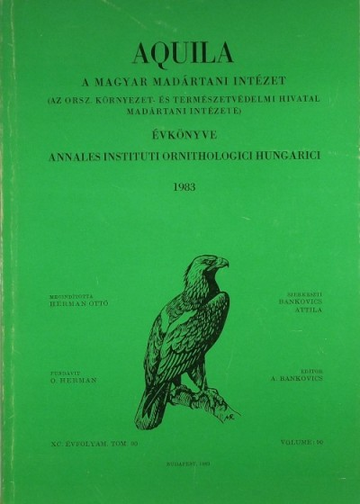 Bankovics Attila  (Szerk.) - Aquila 1983