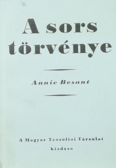 Annie Besant - A sors törvénye