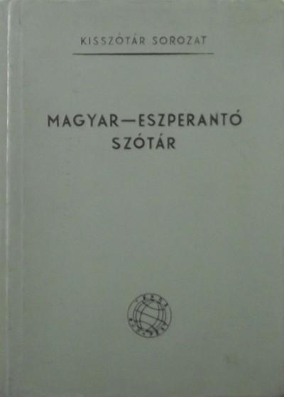Pechan Alfonz  (Szerk.) - Magyar-eszperantó szótár