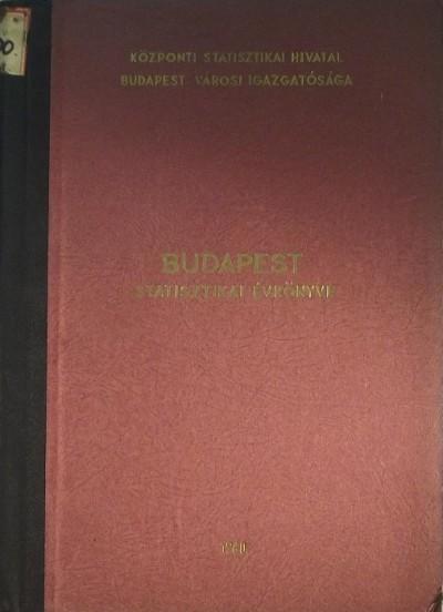 - Budapest statisztikai évkönyve 1960