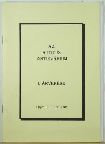 - Az Atticus Antikvárium I. árverése