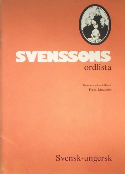 Hans Lindholm - Svenssons ordlista - Svensk - ungersk