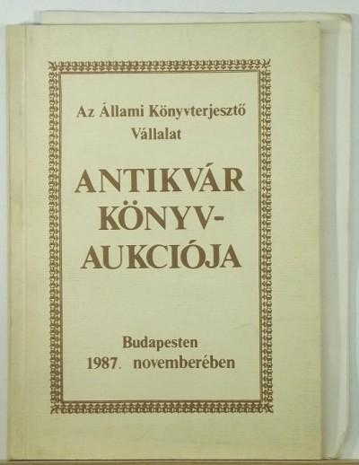- Őszi könyvaukció 1987.