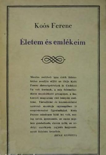 """Képtalálat a következőre: """"Koós Ferenc  Életem és emlékeim"""""""